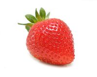 Organic Strawberry Stock Image