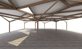 Organic structure, open space architecture Stock Photos