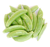 Organic sugar snap peas Stock Photo