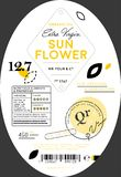 Organic sunflower oil label template royalty free stock photo