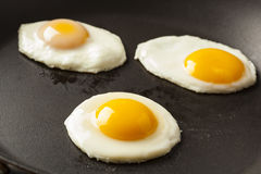 Organic Sunnyside up Egg Stock Photos