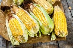 Organic sweet corn Royalty Free Stock Image