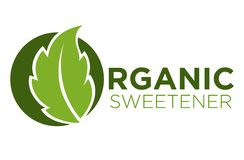 Organic sweetener green symbol of stevia or sweet grass logo Royalty Free Stock Photography