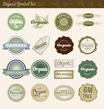 Organic Symbol Set Royalty Free Stock Images