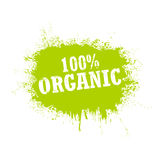 100% organic tag  on a white background. Grunge. Vector Illustration Stock Image