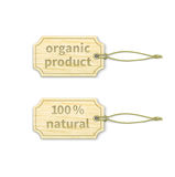 Organic tags set 1.1 Royalty Free Stock Photo