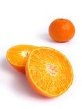 Organic Tangerine cut in half Stock Images