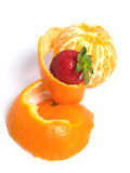Organic Tangerine peeled Royalty Free Stock Images
