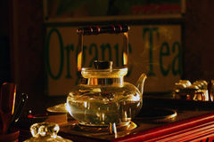 Organic tea pot Stock Photo