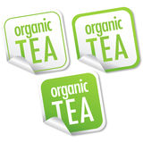 Organic tea stickers Royalty Free Stock Photography