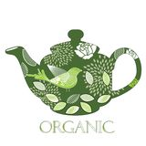 Organic teapot  Royalty Free Stock Photo