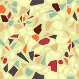 Organic terazzo abstract modern yellow green orange brown seamel vector illustration
