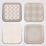 Organic textile squares Stock Images