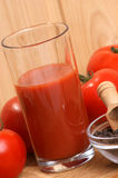 organic tomato juice in a glass Royalty Free Stock Photography