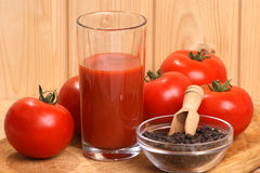 organic tomato juice in a glass Royalty Free Stock Images