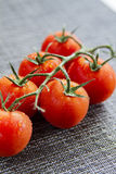 Organic tomatoes Stock Photo