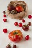 Organic tomatoes harvest Royalty Free Stock Image