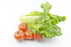 Organic tomatoes and vegetables Stock Photos