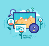 Organic Traffic. SEO Concept Stock Photography
