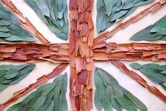 Organic United Kingdom flag Royalty Free Stock Image