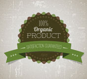 Organic vector round retro vintage grunge label Royalty Free Stock Photos