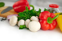 Organic vegetable background Royalty Free Stock Photo