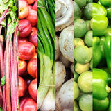 Organic Vegetable collage Royalty Free Stock Image