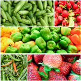 Organic Vegetable collage Stock Photos