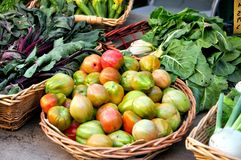 Organic vegetable market in Italy  Stock Photography
