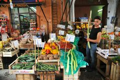 Organic vegetable market in Palermo, Sicily, Italy Royalty Free Stock Photography