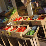 Organic fruit and vegetable store Royalty Free Stock Image