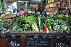 Organic vegetables at the Borough Market in London, Uk Royalty Free Stock Photo