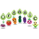 Organic vegetables cartoon Stock Images