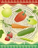 Vegetables, fruits, berries stock illustration