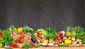 Organic vegetables and fruits Stock Photos