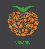Organic vegetables and fruits Stock Photo
