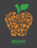 Organic vegetables and fruits Royalty Free Stock Photography