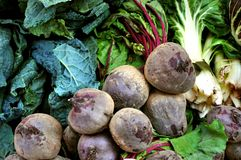 Organic vegetables market  Royalty Free Stock Images