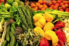 Organic vegetables market in Italy Stock Photo