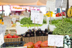 Organic and vegetables market Stock Photos