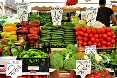 Organic vegetables market in Italy Stock Image
