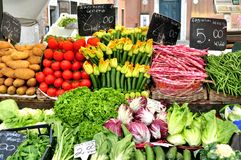 Organic vegetables market in Italy Royalty Free Stock Photography