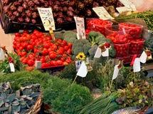 Organic vegetables market stall Stock Photo