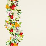 Organic vegetables seamless pattern background Royalty Free Stock Photography