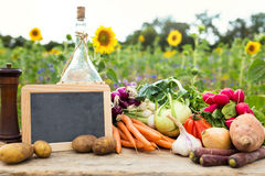 Organic vegetables on a table Stock Image