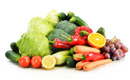 Organic vegetables on white Stock Image