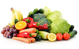 Organic vegetables on white Royalty Free Stock Images
