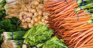 Organic vegetables. A wide variety of organic vegetables at a farmer's market in San Francisco Stock Photography
