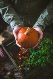 Organic vegetables on wood Stock Photo