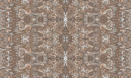 Organic vintage doodle art pattern. Ethnic zen style ornament. Ethnic doodle surface pattern print. Bohemian repeating damask background texture. Best for vector illustration